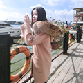 Winter Big Real Raccoon Fur Collar Horned Buttoned Wool Coat Women Long Thick Solid Color Warm Parkas Outwear Coat MZ1142
