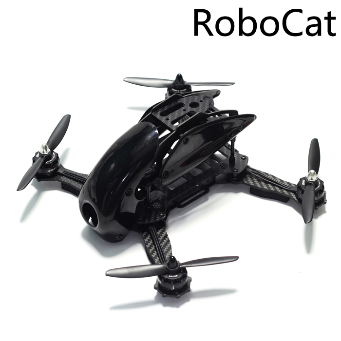 Robocat 270 270mm Mini Quadcopter Frame Kit Carbon Fiber Alien  for FPV RC Racing Drone realacc kt100 100mm carbon fiber frame kit for rc quadcopter multirotor fpv camera drone x type frame accessories purple