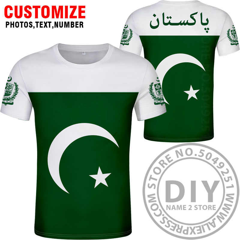Пакистанская футболка diy бесплатная пользовательское имя номер Пак футболка Национальный флаг Ислам Арабский исламский ПК пакистанский арабский Принт фото одежда