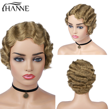 Human Hair Wigs Brazilian Hair Wig Short Curly Wigs for African American Women Blond Black Finger Waves Wig Remy Hair HANNE