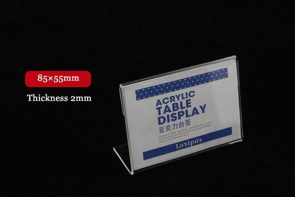 85X55mm Tag ticket card holder frame display stand Acrylic Desktop ...