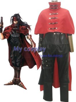 Anime Final Fantasy Cosplay - Final Fantasy VII Vincent Valentine Men's Cosplay Costume for Halloween Party Freeshipping фото