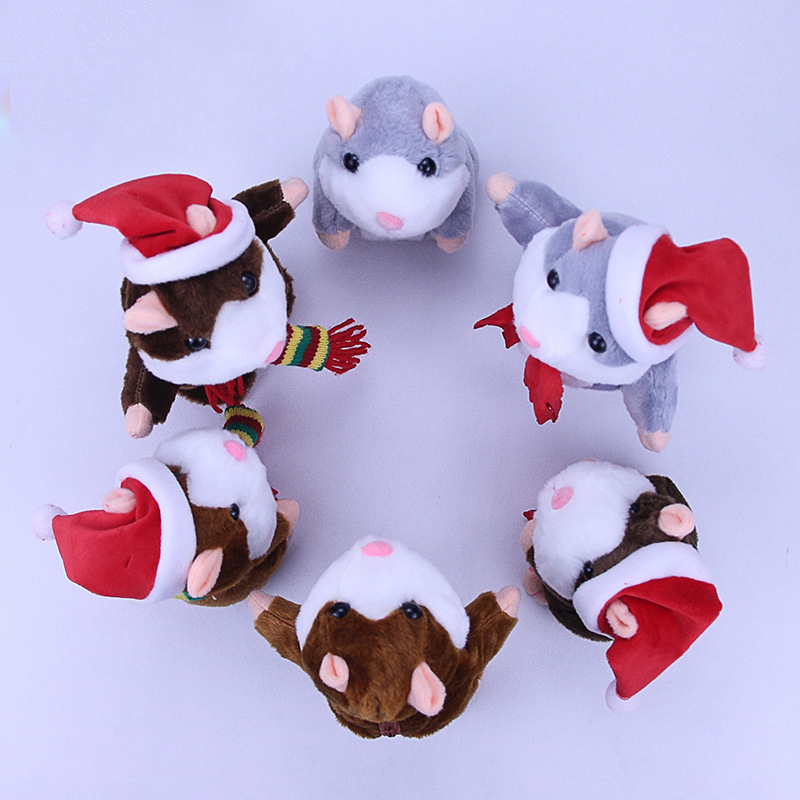 talking hamster dolls Gifts for the New Year merry christmas electronic toys plush Stuffed present for 3 years children boy girl