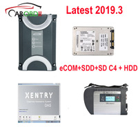 2019 Newest For Benz eCOM DoIP Diagnosic Tool with 256G SSD and MB SD Connect C4 with 2019.3 Xentry Software HDD
