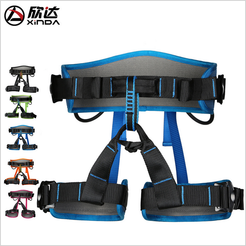 Xinda Outdoor Climbing Body Safety Belt Mountain Waist Belt Safety Drop Downhill Protection Belt for Mountaineering Climbing stop locking device climbing outdoor rock climbing expand sports fire rescue downhill safety hand control drop device