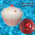 Inflatable water donut swimming baby circle floating children pool toy cupcake pool floats for adult swimming ring swim trainner