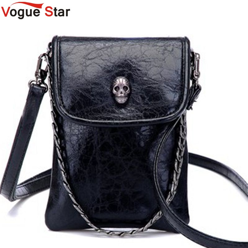 Vogue Star 2017 New Arrival Fashion Shoulder Cross-body Small Bags Skull Chain M