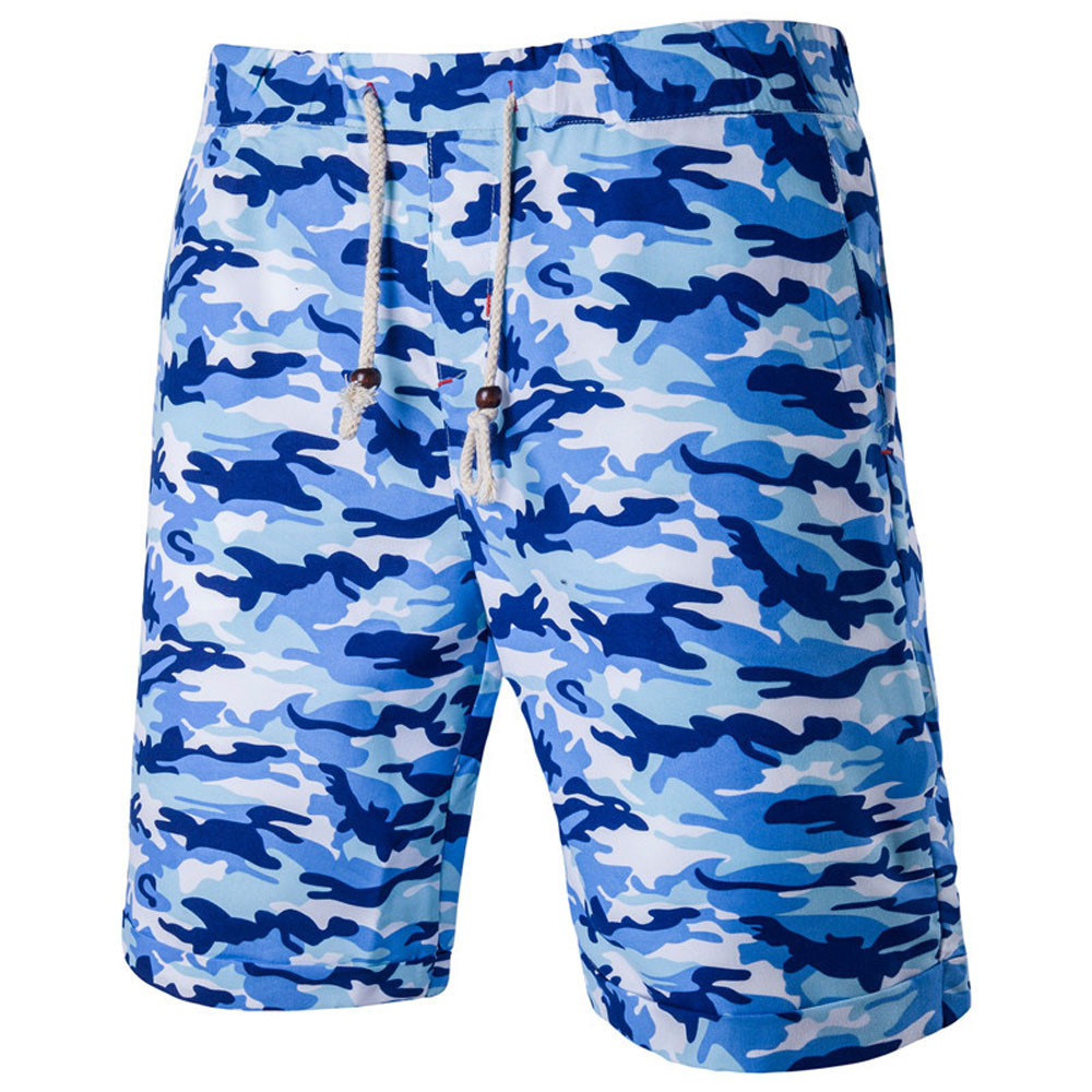Womail Brand Drop Shipping Swimwear Men Summer Beach Mens Camouflage Short Pants Flanging Cropped Trousers