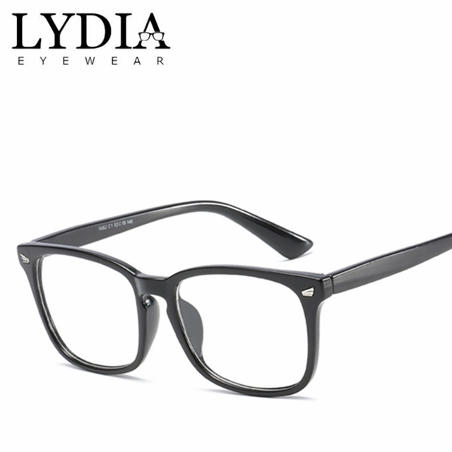 c8a976a45a6 2018 Hot Selling Flat Top Clear Optical Myopia Prescription Glasses Frames  Men Women Computer Eyeglasses Eyewear Frame L8082CJ