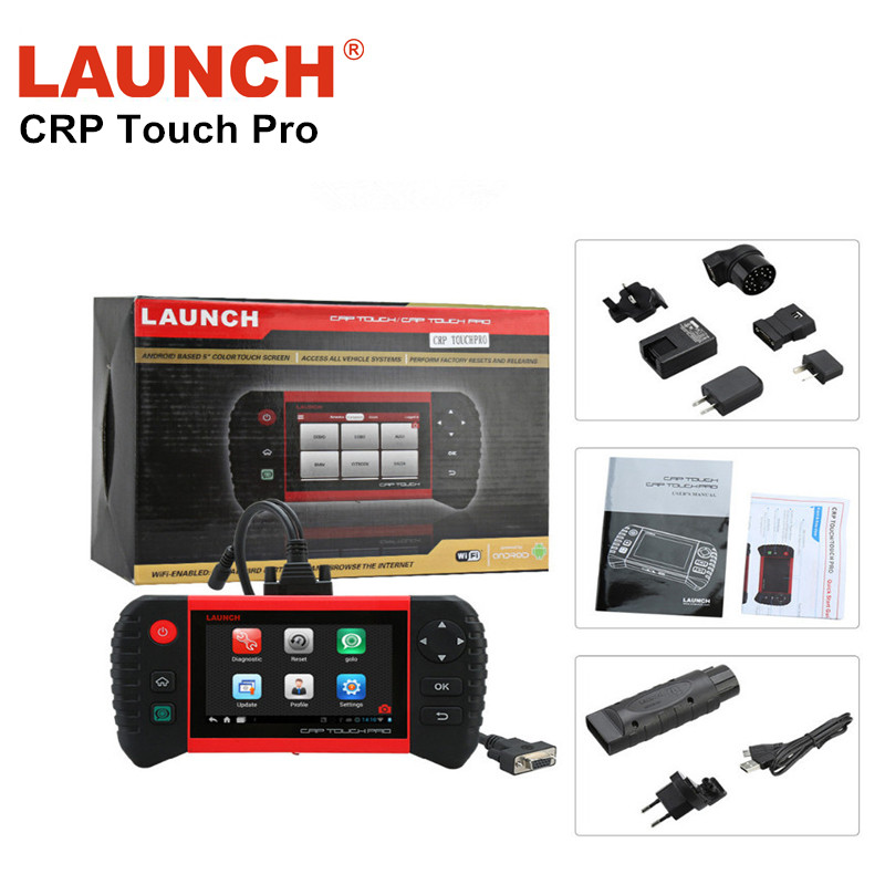 100% Original Customized Launch Creader CRP Touch Pro Full System Diagnostic EPB/dpf/TPMS/Service Reset/Golo/Wi-Fi