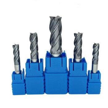 Tungsten carbide carbide milling cutter 14 mm 16 mm 18 mm 20 mm 4 slot long flat head cutter cnc cone wood metal milling cutter nlw t1b613 14 16 18 20