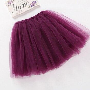 summer lovely fluffy soft tulle baby girls tutu skirt pettiskirt 14 colors girls skirts for 6M-14Yrs kids mother daughter skirts 1