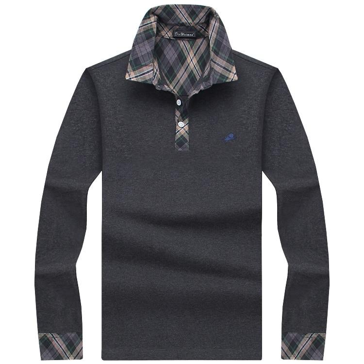 Clásico para hombre camisa de polo de manga larga a rayas mezclas marca masculina ropa hombres de negocios Slim Fit camisas de polo más el tamaño M-10XL