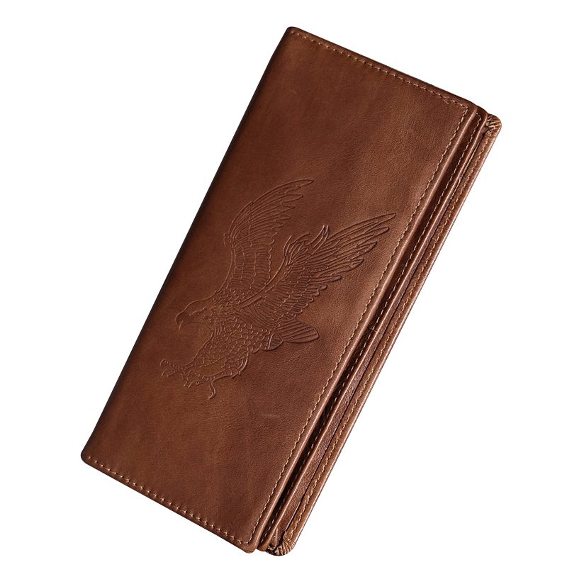 Vintage Male Wallet Genuine Leather Men Wallet Slim Long Purse Male Coin Purse Card Holders Quality Billfold Money Bag Fashion