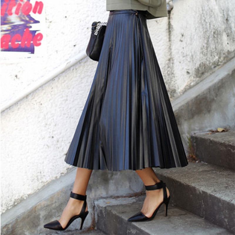 Popular Pleated Leather Skirt-Buy Cheap Pleated Leather Skirt lots ...