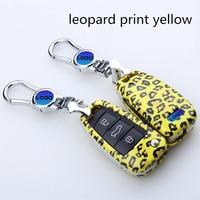 2017 elegant style Car key cover For Audi Keyle leopard print style Car key ring for Audi A4L A6L Q5A8L A7 S8 S7 Key hot selling