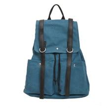 KUNDUI Багаж женщины опрятный стиль старинных холст сумка женская мода рюкзак студент школы дорожная сумка женщин сумки Бесплатная доставка