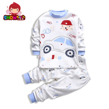 SHOWHASH Spring New Fashion Animal Cartoon Boy Girl Clothes Set Kids Warm Long Sleeve Cotton Children Set T-shirts & Pants XA354