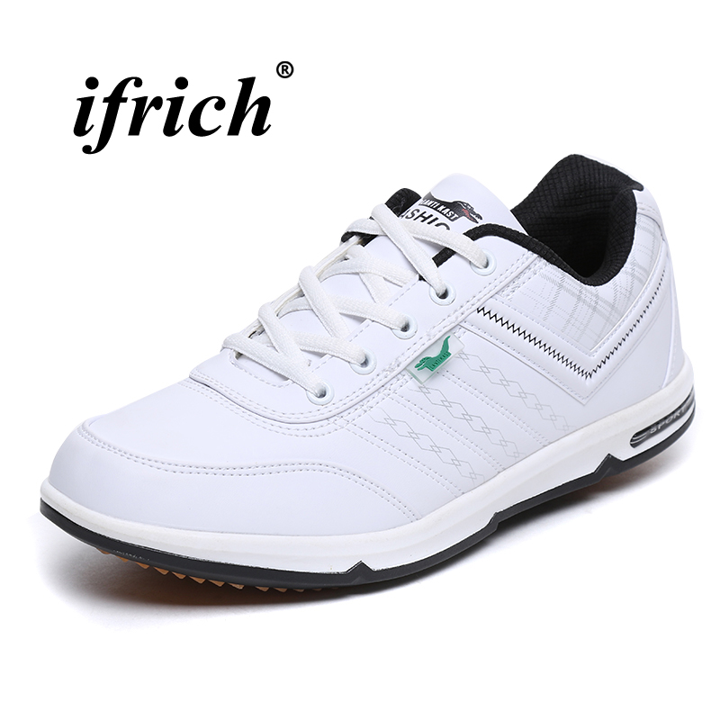 Spring Autumn Men Sneakers Men Trainers Sneakers Black White Jogging Walking Shoes Pu Leather Gym Sneakers Mens Runners
