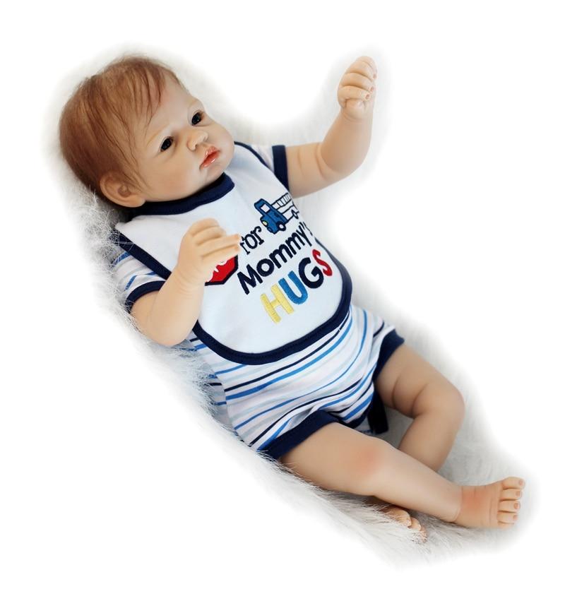 Poupée bébé dollmai 55CM 22 pouces poupée bebes Reborn poupées fille réaliste Silicone Reborn poupée mode garçon fille nouveau-né Reborn bébés - 5