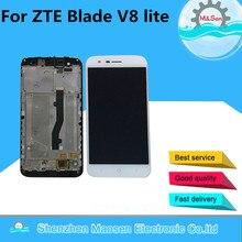 Купить M & Sen для 5,0 «zte лезвие V8 lite ЖК-дисплей экран + Сенсорная панель планшета с рамкой Белый/Черный бесплатная доставка
