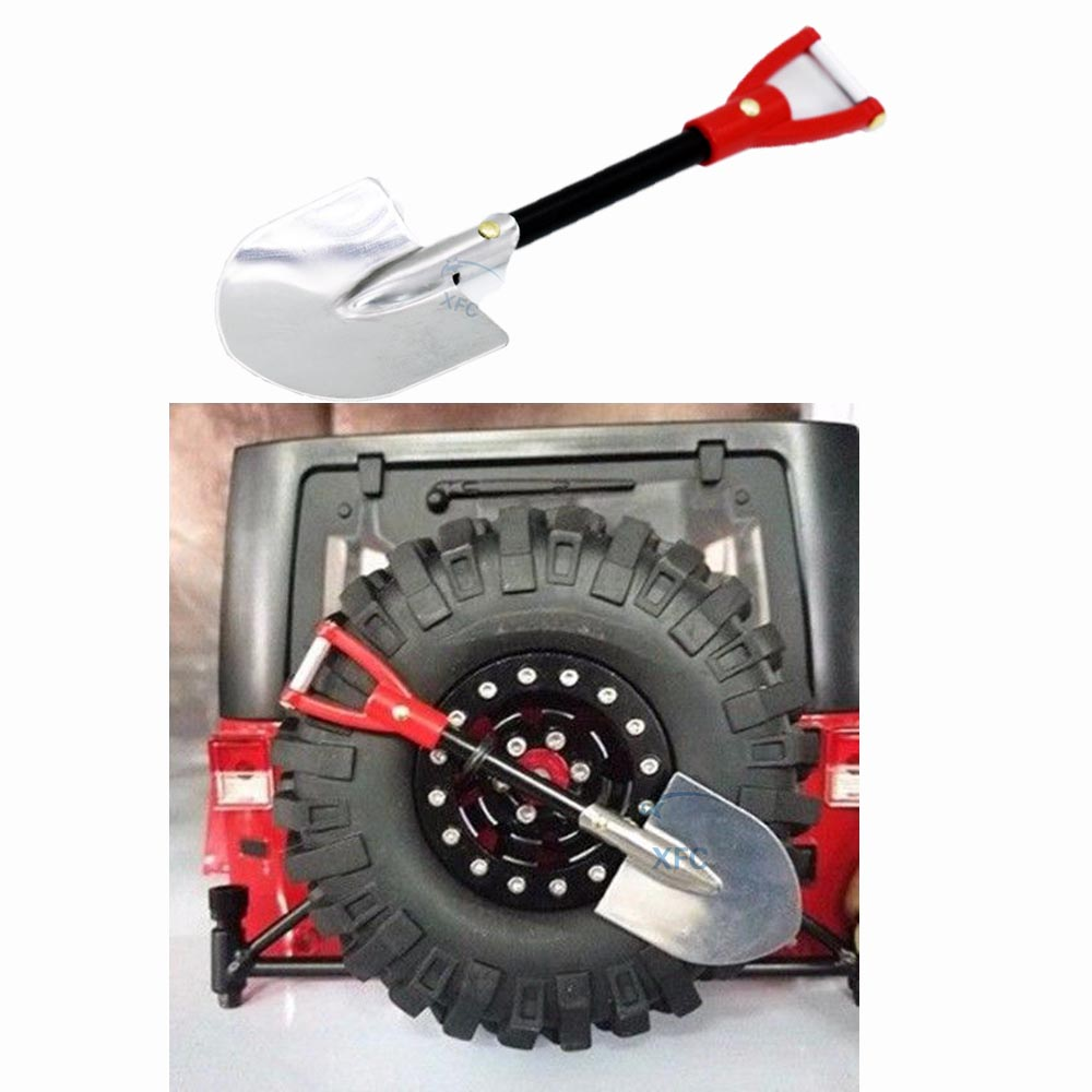 Metal Shovel Tools For 1/10 RC Rock Crawler Axial SCX10 D90 D110 CC01 RC4WD TF2 Traxxas TRX4 TRX-4 Car Truck Accessory