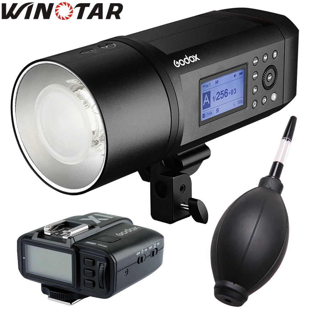 In Stock <font><b>Godox</b></font> <font><b>AD600</b></font> <font><b>Pro</b></font> Portable Outdoor Flash 1/8000s TTL HSS 38W LED Built-in X System Li-on Battery with X1 Transmitter image