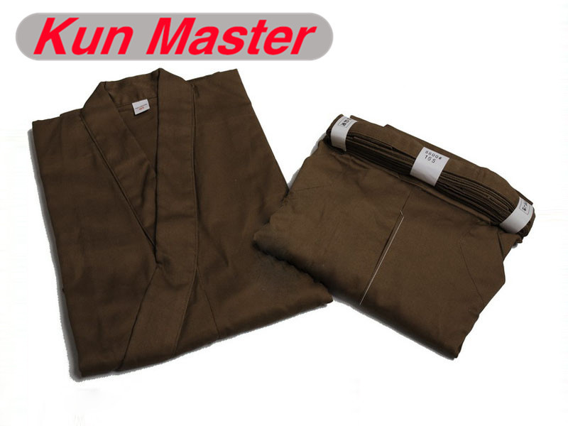 100% Cotten Kendo Kendogi And Hakama Japanese Kendo Laido Aikido Hapkido Martial Arts Uniform Brown Color aikido gi uniform cotton hapkido pants kendo hakama black japanese samurai traditional mens women kids keikogi adult