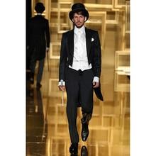 wedding black tuxedo long tail for font b men b font font b formal b font