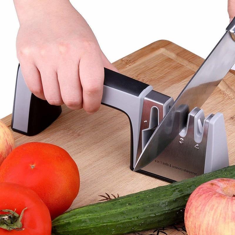Household Stainless Steel Sharpener Multifunctional Kitchen Tool Scissors Kitchen Knife Blade Fast Knife Sharpener Decor in Sharpeners from Home Garden
