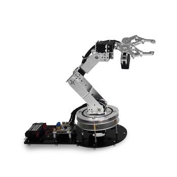 Industrial Robot 550 Mechanical Arm 100% Alloy Manipulator 6 Degree Robot arm Rack kit with 6Pcs LD-1501MG Servos+1Alloy Gripper фото