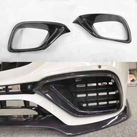 E Class Car Carbon Fiber Front Bumper Air Vent Outlet Cover Trim Mesh Grill Frame for Mercedes W213 E200 E63 AMG 2017 2018