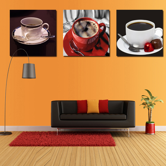 New Arrival Kitchen Coffee Wall Art Painting Home Decor Canvas Paintings Cuadros Hd Pictures For