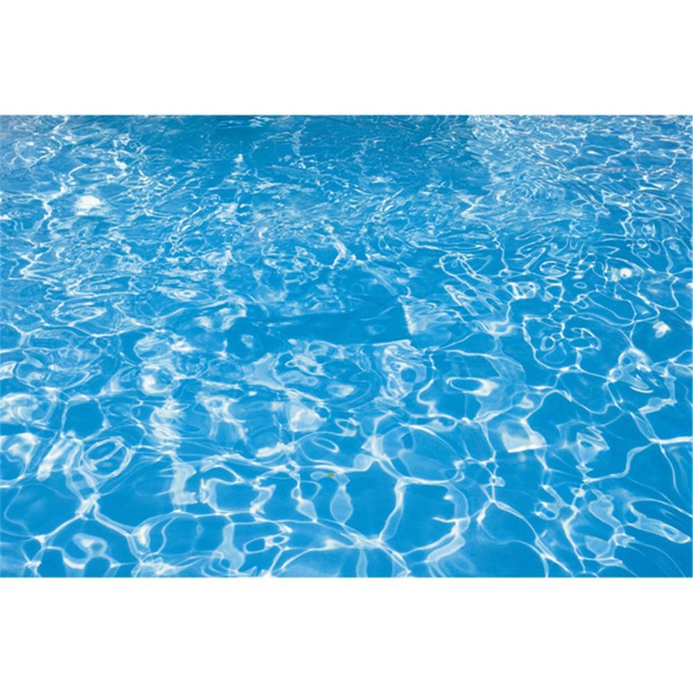 Blue Water Swimming Pool Photography Backdrops Baby Newborn Swim Photoshoot Props Kids Children Photo Studio Backgrounds