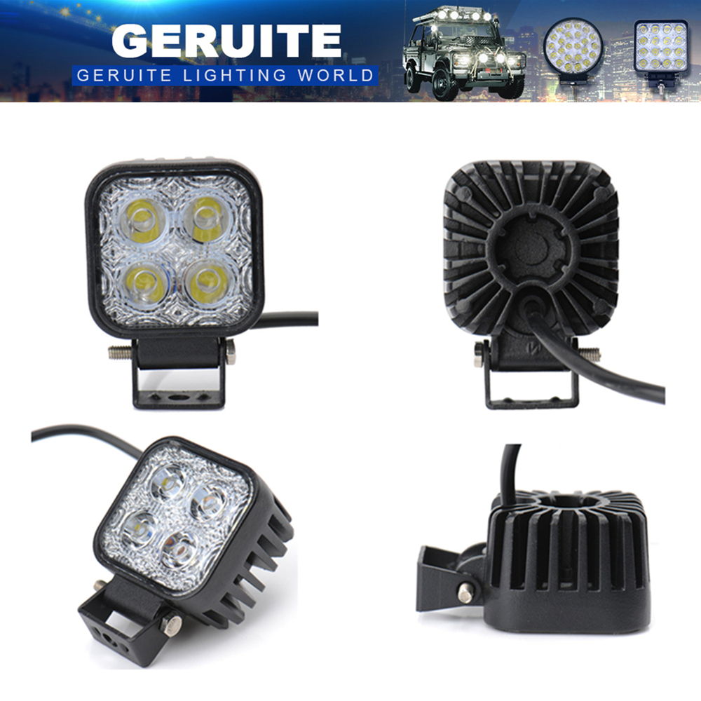 10st LED Spotlights 900LM Mini 6 Inch 12W 4 x 3W Car CREE LED Light Bar som arbejdslampe / Flood Light / Spot Light til sejlsport