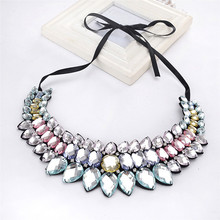 Фотография Diomedes Women Black Lace Flower Choker Necklace Jewelry Beauty Ribbon clavicle chain#30
