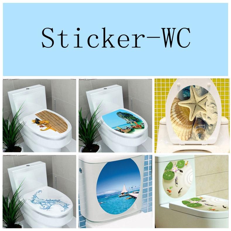 32*39 см Стикеры wc пьедестал Пан крышка Стикеры туалет стула комод Стикеры Home Decor Ванная комната Декор 3D печатных цветок посмотреть