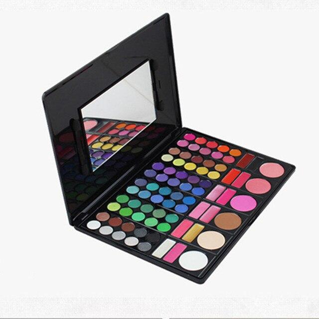Profissional 78 Cor Da Sombra de Olho com 2 Escovas de Beleza Espelho de Maquiagem Conjunto de Maquiagem À Prova D' Água do Sexo Feminino Produtos