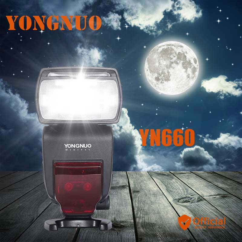 YONGNUO YN660 Wireless Flash Speedlite GN66 2.4G HSS 1/8000s for Canon 1D 6D Mark ii Nikon D610 D800 D7000 Pentax Olympus camera 2pcs yongnuo yn660 wireless flash speedlite gn66 2 4g hss 1 8000s trigger for canon eos 1d 6d mark ii iii iv 7d 60d 50d 40d 1ds