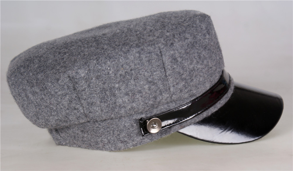 cae818cb Winter Wool Felt Military Beret Caps Navy Hats Snapback Visor Black Berets  Hats for Women Men Warm Painter Flat Top Caps-in Berets from Apparel  Accessories ...