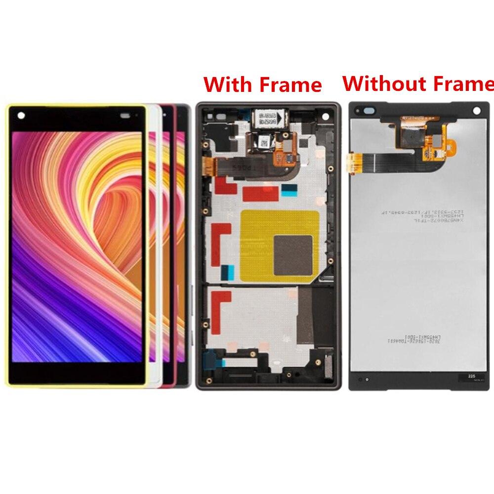 Pour Sony Xperia Z5 Compact E5823 E5803 écran LCD et numériseur assemblée avec remplacement du cadre avant!