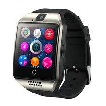Smartwatch, Q18 Bluetooth Relógio Inteligente Com Câmera Whatsapp Facebook Twitter Sync SMS Apoio Cartão TF SIM Para IOS Android Phone