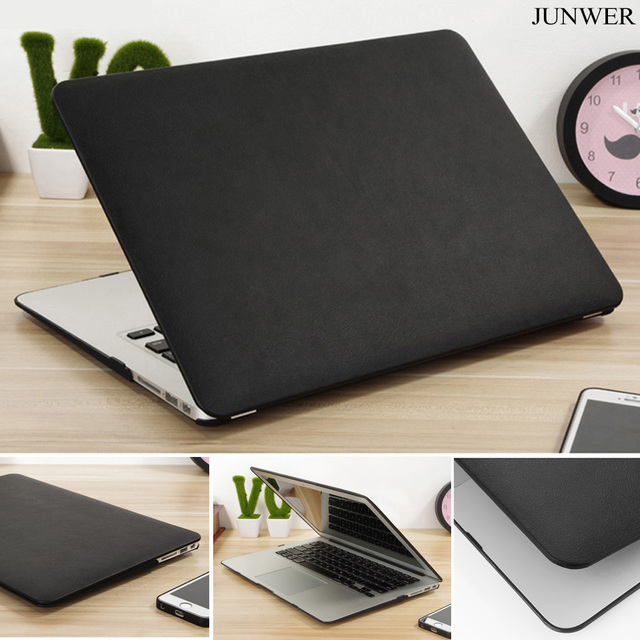 JUNWER PU Leather Case For Apple mac book Air 11.6 12 13.3 Pro Retina 13 15 laptop bag Cover For Macbook pro 13 with Touch bar