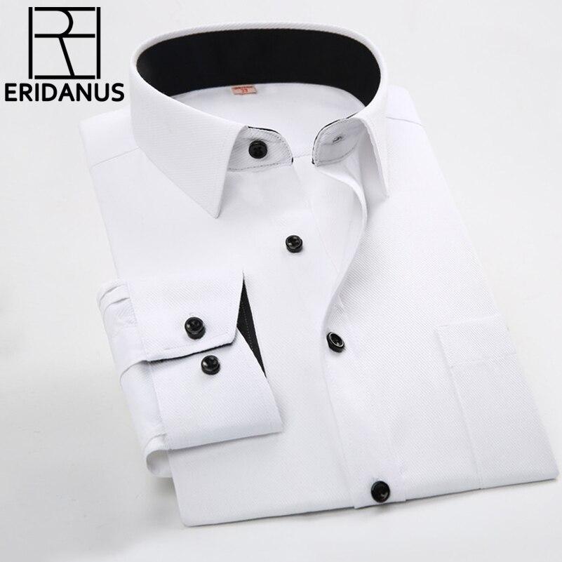 76d62b961ce6 Los hombres Camisas de Negocios 2016 Nuevos Hombres de la Llegada Delgado  Patchwork Diseñador de Moda