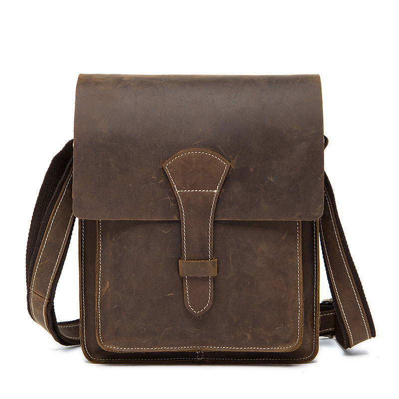 Men's Genuine Leather Crossbody Bags New Deaign Men Messenger Bag Small Casual Handle-top Flap Leather Shoulder Male Bag for Men cowhide messenger small flap casual handbags men leather bag genuine leather bag top handle men bags male shoulder crossbody ba