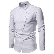 Истинный ревеллер модные мужские рубашки с длинными рукавами сплошной цвет Перевернутый треугольник дизайн блузка вечерние Клубные джентльменские рубашки мужской верх
