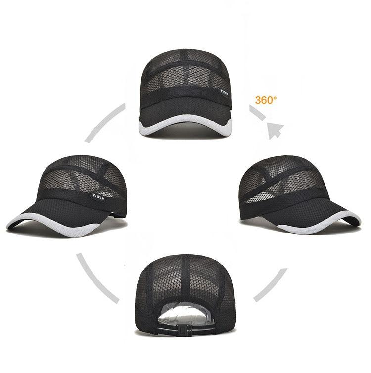 [AETRENDS] 2017 Summer Breathe Freely Mesh Baseball Cap Men Hats Bone Cap with 4 Colors Z-2656