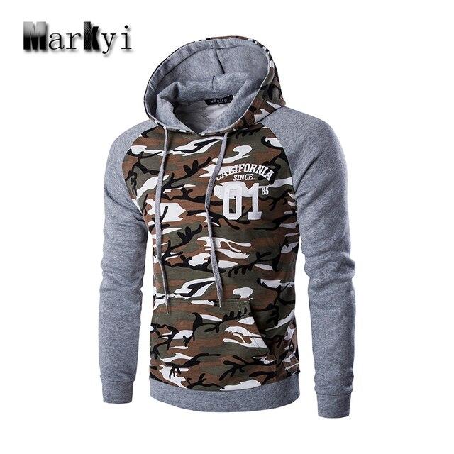 MarKyi 2016 neue kapuze camouflage hoodie männer gute qualität brief  gedruckt sweatshirt männer marke größe 2xl 9a323c76d0