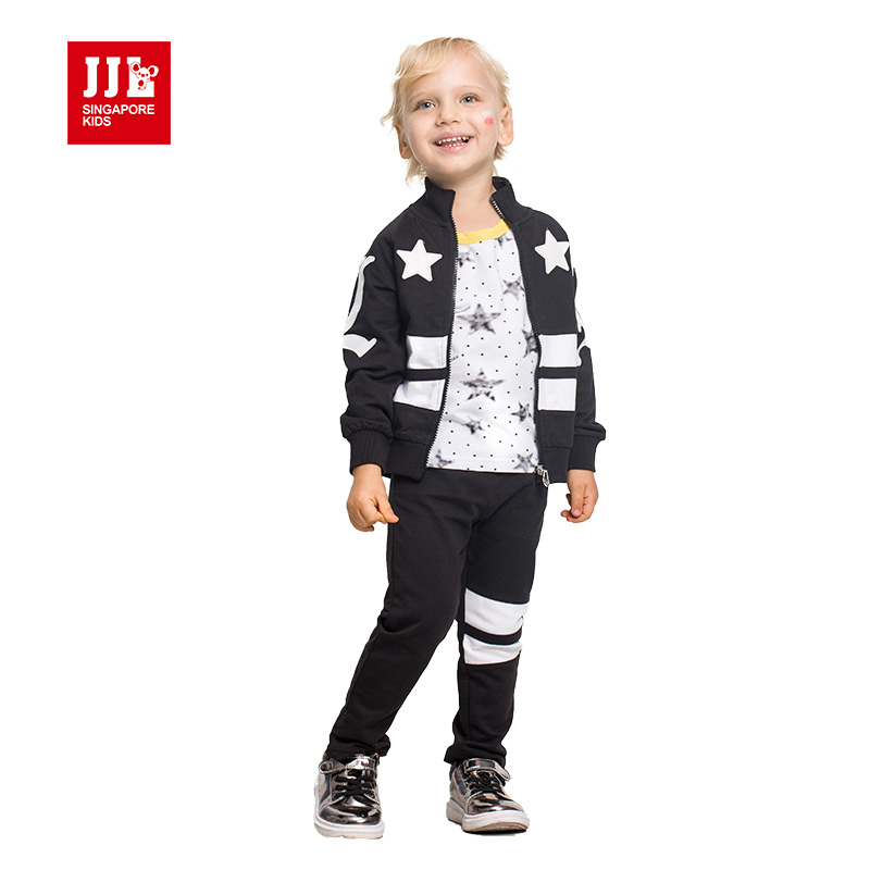 jjlkids 2017 spring kids suits hoodie coat+trackpants kids outfits brand quality boys clothing boys sets boys tops худи boys hoodie