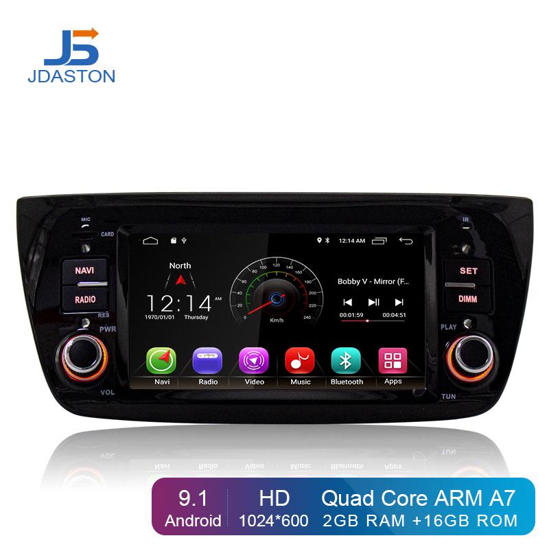 JDASTON Android 9.1 Din Rádio Do Carro Para FIAT DOBLO 1 Opel Combo Tour 2010-2014 Car Multimedia Player GPS navegação Wi-fi Estéreo